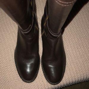 Coach Shoes - Coach Eva/Sutton Leather Knee boots